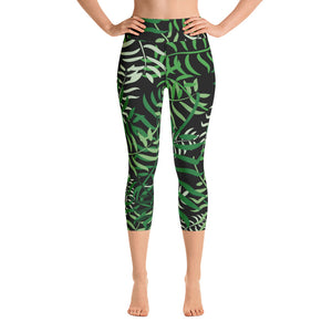 Maggie Green Palm Capris