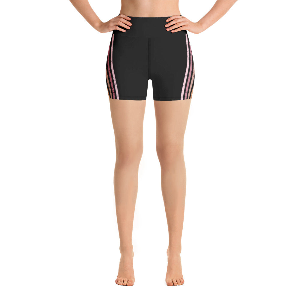 Lenni Retro Stripe Black Shorts