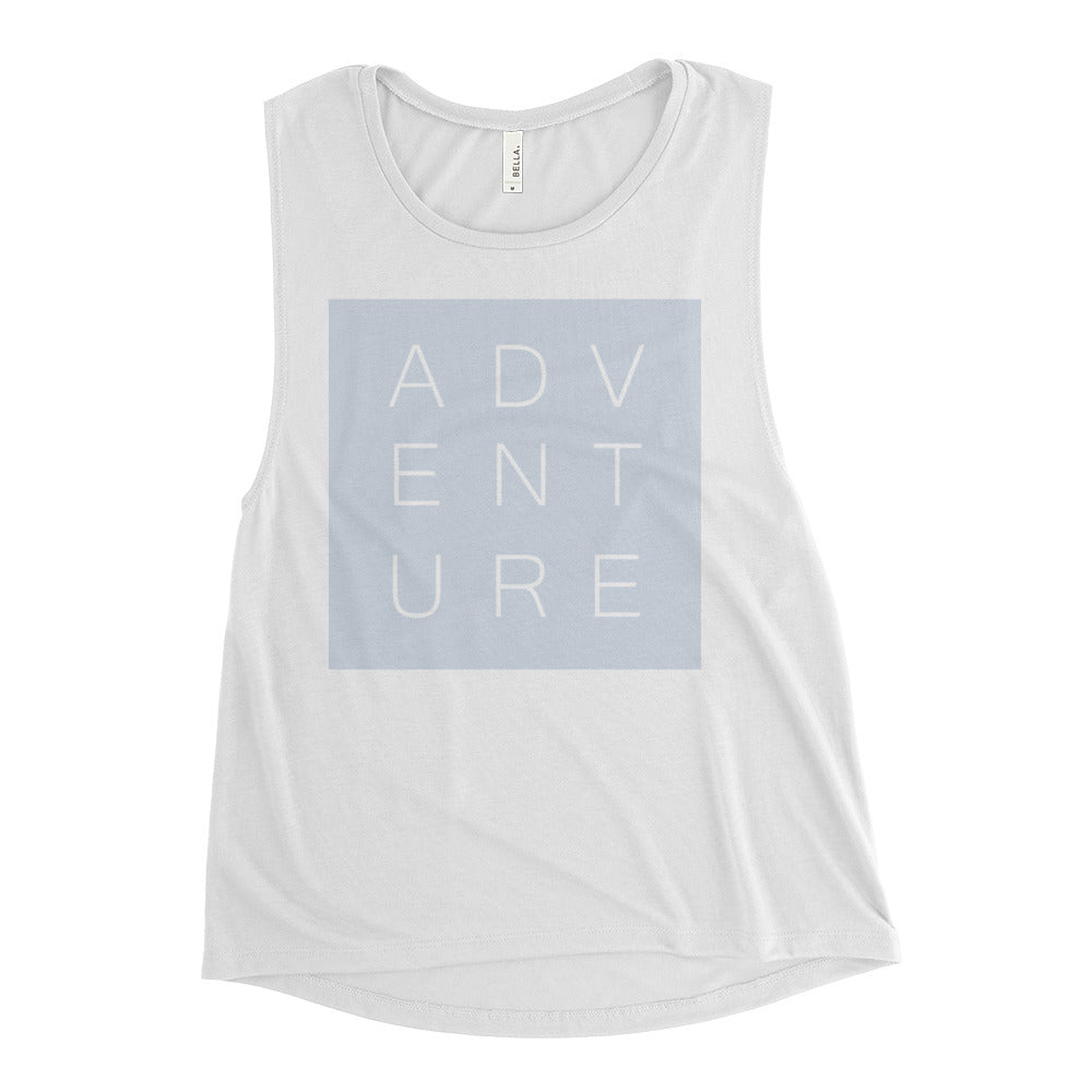 Swayzie Blue Adventure Muscle Tank