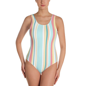 Pastel Stripes One-Piece Swimsuit