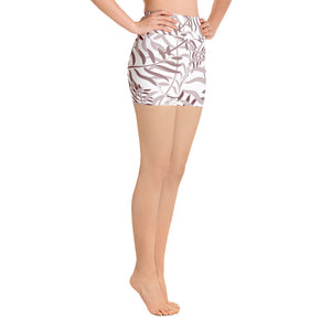 Lola Maroon Palm Leaves Shorts