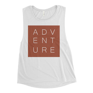 Maggie Adventure White Muscle Tank