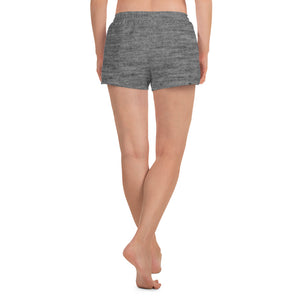 Grey Striped Athletic Shorts