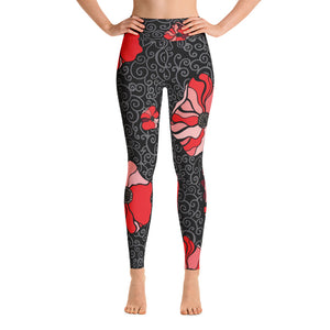 Alexandra Red Poppie Leggings