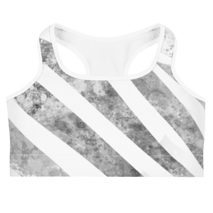 Sammie White Zebra Sports Bra