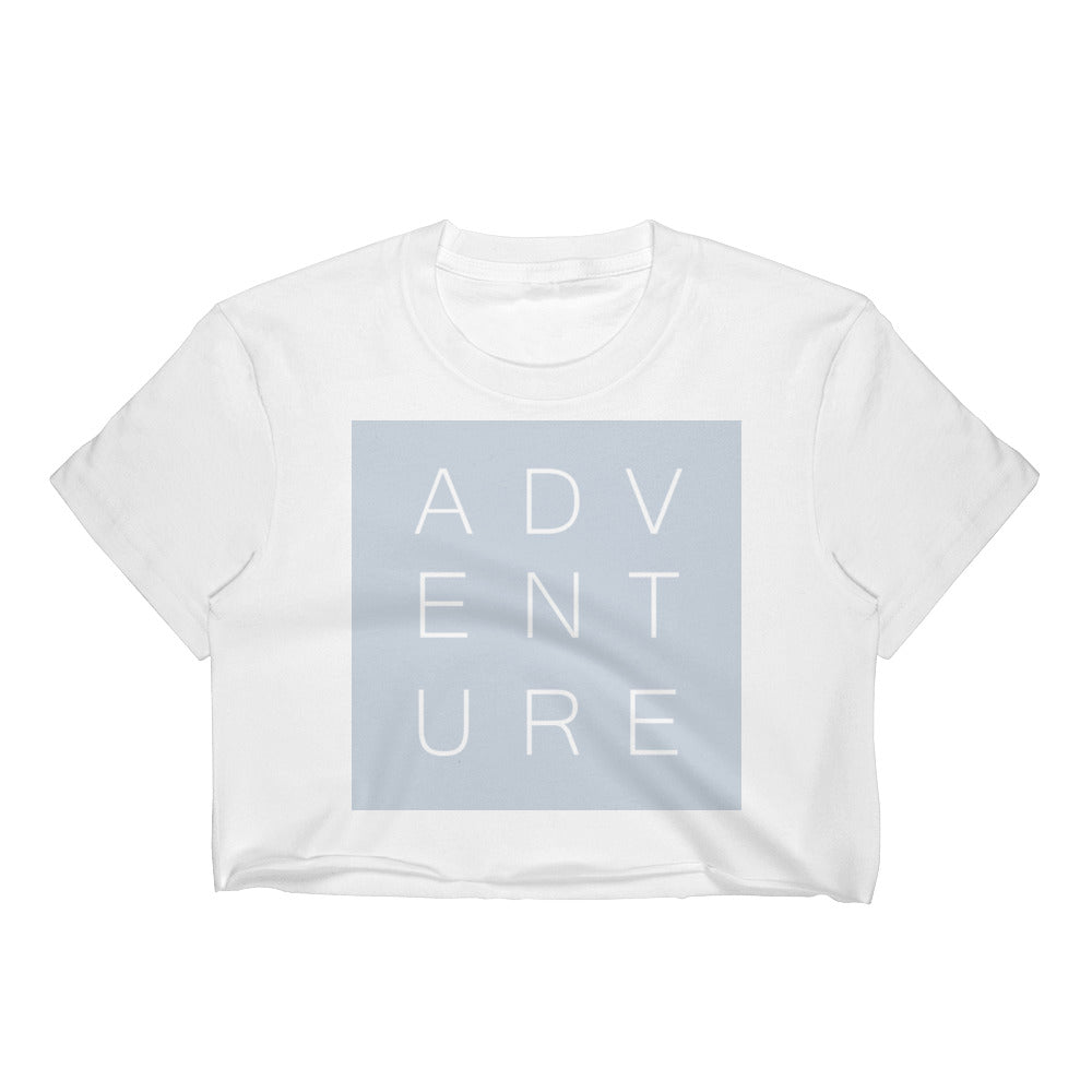 Swayzie Blue Adventure Crop Top