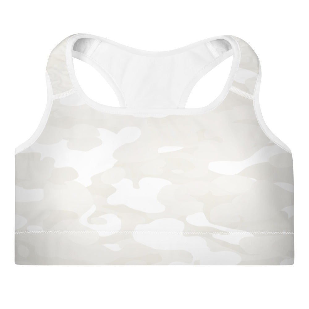 Ruby White Camo Sports Bra