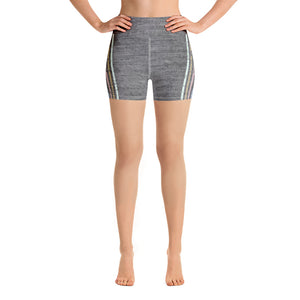 Lenni Retro Stripe Grey Shorts