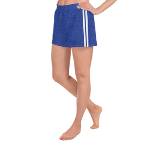 Royal Blue Stripes Athletic Shorts