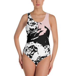 Contrasting Florals One-Piece Swimsuit