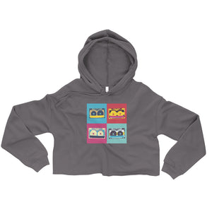 Cassette Tape Pop Art Crop Hoodie