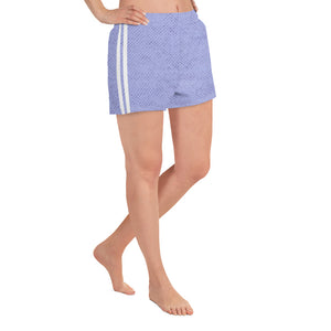 Periwinkle Stripes Athletic Shorts