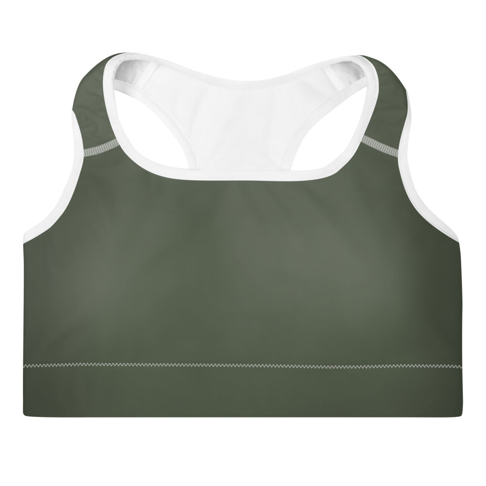 Riley Army Sports Bra