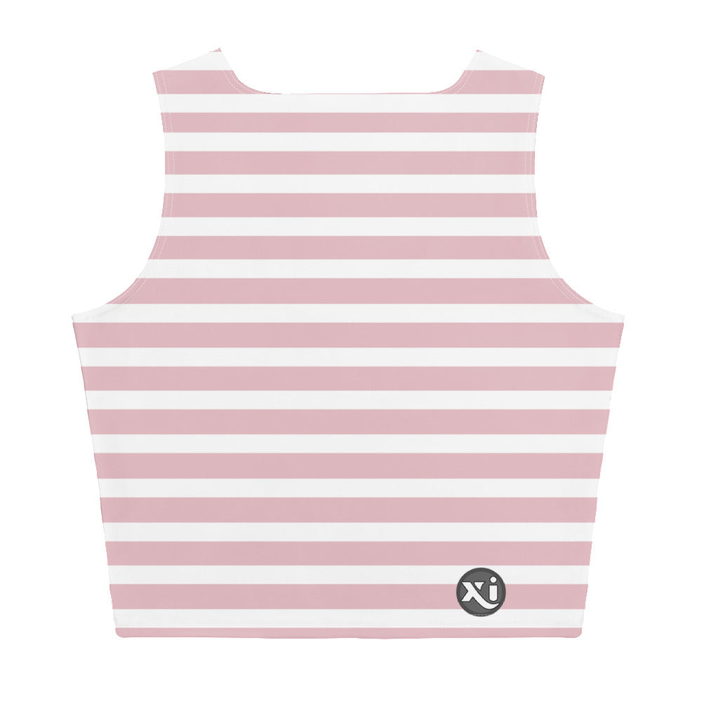 Monroe Pink Stripes Crop Top