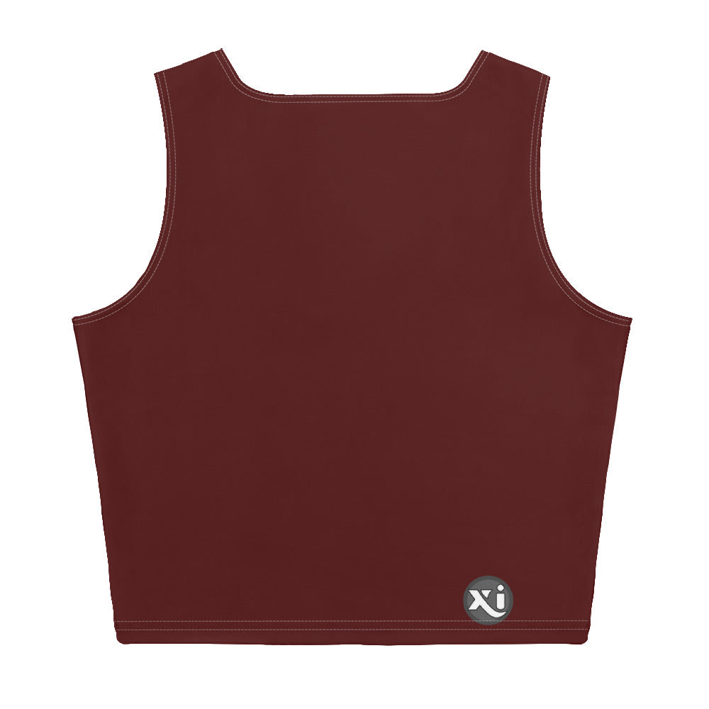 Riley Maroon Crop Top