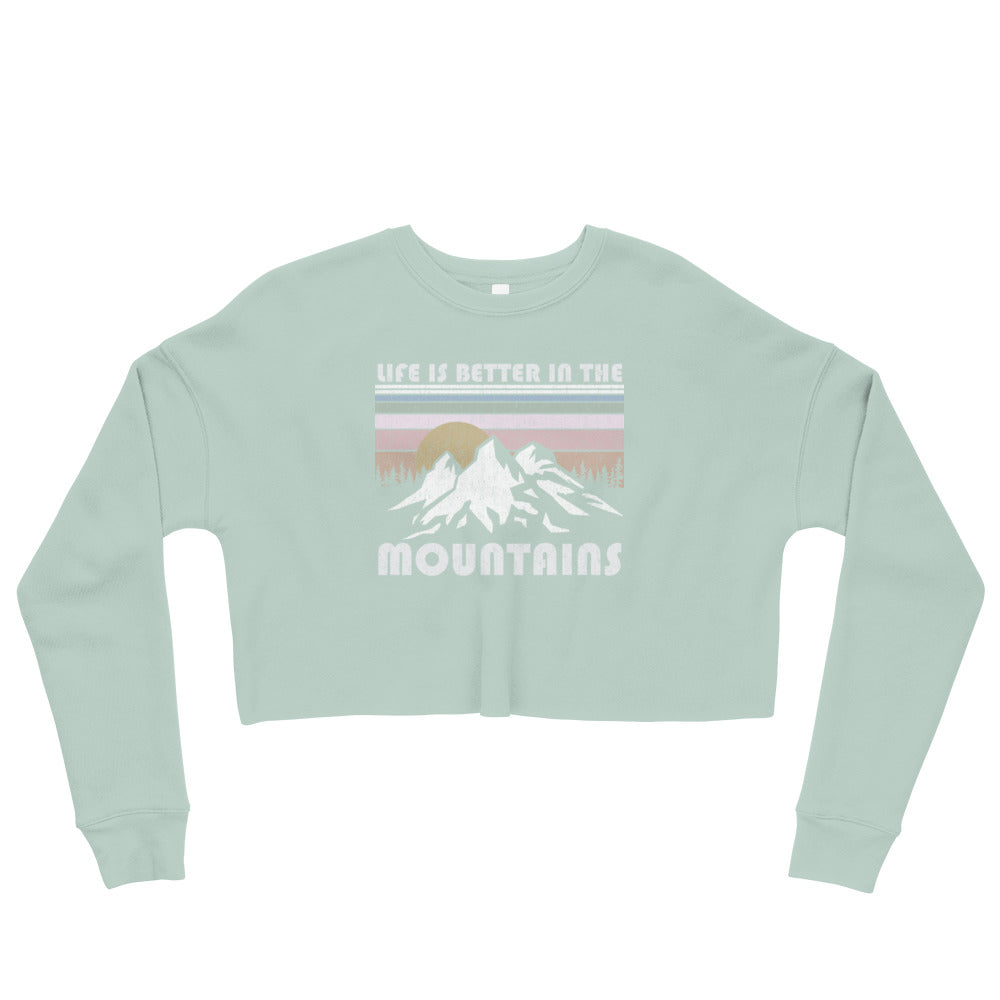 Mountain Life Crop Sweatshirt
