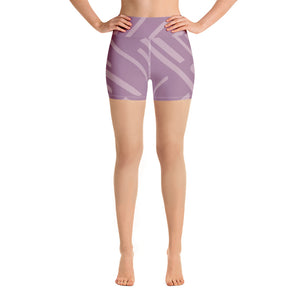 Lexi Purple Stripe Shorts