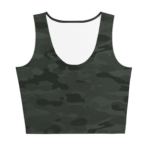 Ruby Green Camo Crop Top