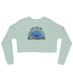 Sunshine Dusty Blue Crop Sweatshirt