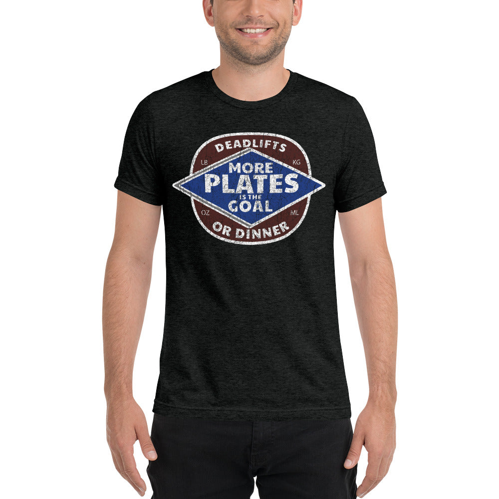 More Plates Men's Tri-Blend Tee