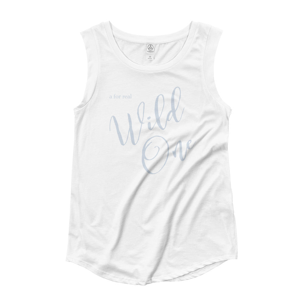 Swayzie Blue Wild One Muscle Tee