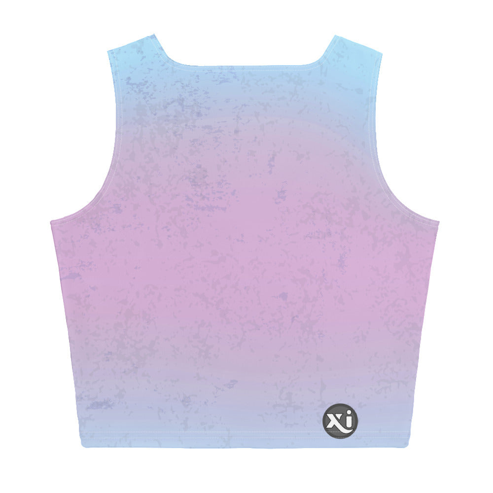 Breathe Pink Mermaid Crop Top