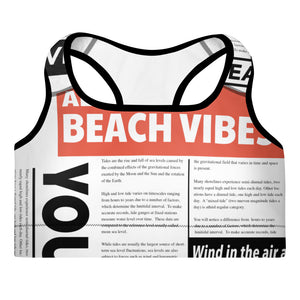 Beach News Sports Bra