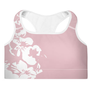 Monroe Pink Padded Sports Bra
