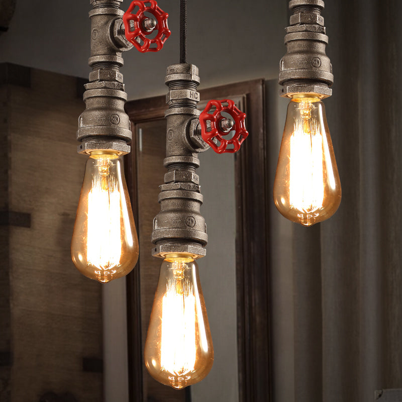 Industrial Water Pipe Ceiling Pendant Light