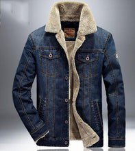 Thick Denim Jacket with Plush Lining