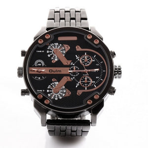 OULM Dual Display Wristwatch w/ Stainless Steel Band