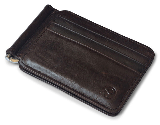 Retro Leather Money Clip