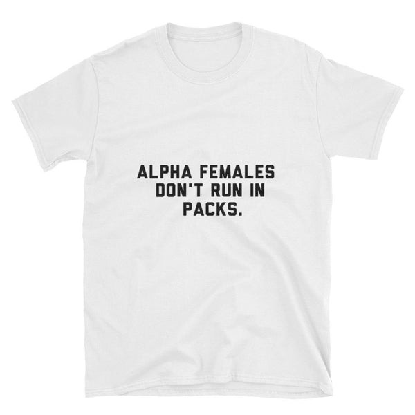 """Alpha Females"" Short-Sleeve Graphics T-Shirt-SincereReigns"