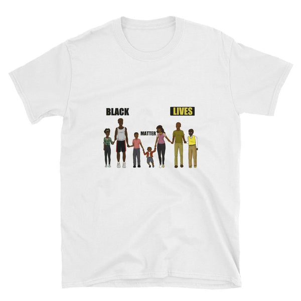 """Black Lives Matter Family"" Short-Sleeve Graphics T-Shirt-SincereReigns"