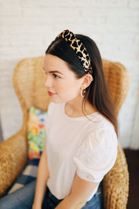 Velvet Cheetah Headband