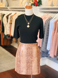 Brown Snake Mini Skirt