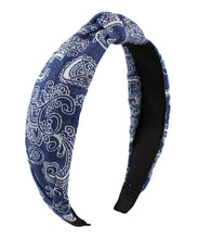 Paisley Denim Headband