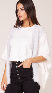 Ease The Day Eyelash Cardigan