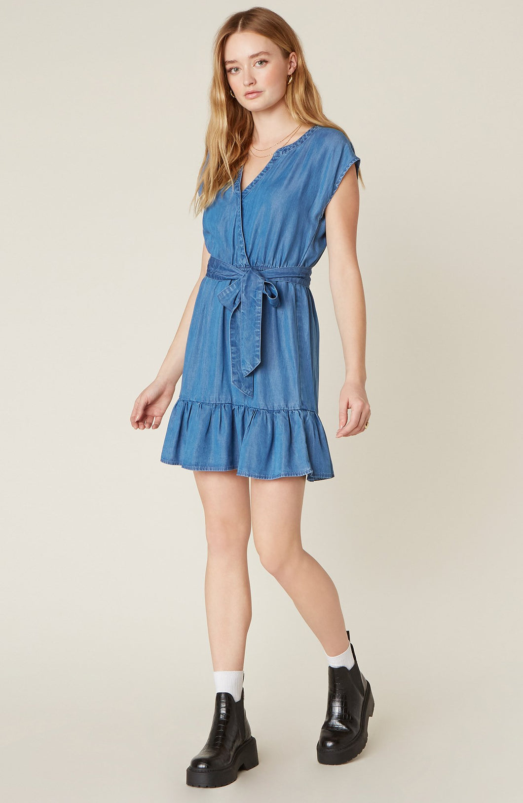 Into The Indigo Wrap Dress