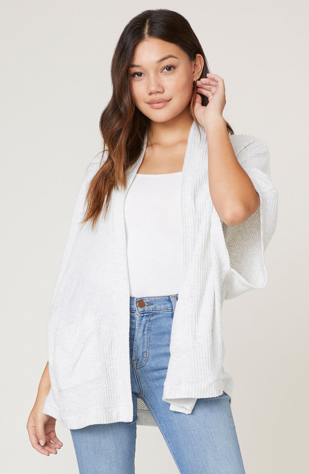 Go Lightly Waffle Knit Cardigan