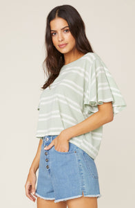 Draw The Linen Striped Tee