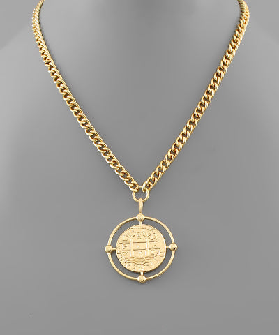 Coin & Circle Necklace