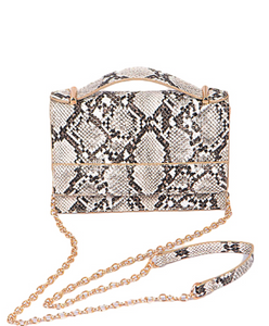 Snake + Chain Crossbody