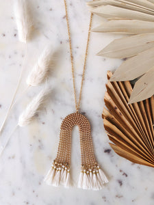 Long Arch + Tassel Necklace