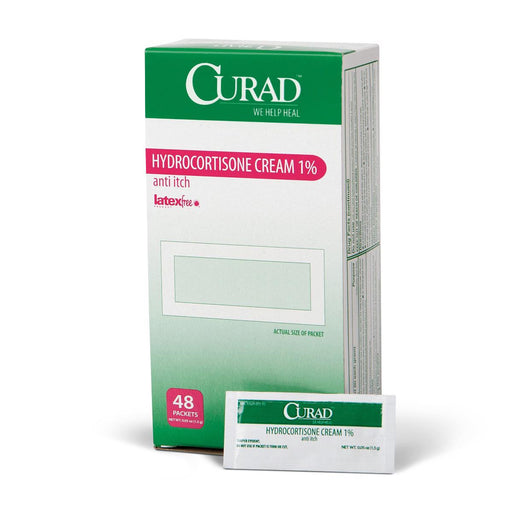 Hydrocortisone 1% Cream  - 1.5g Packets 48/Box - Medical Supply Surplus