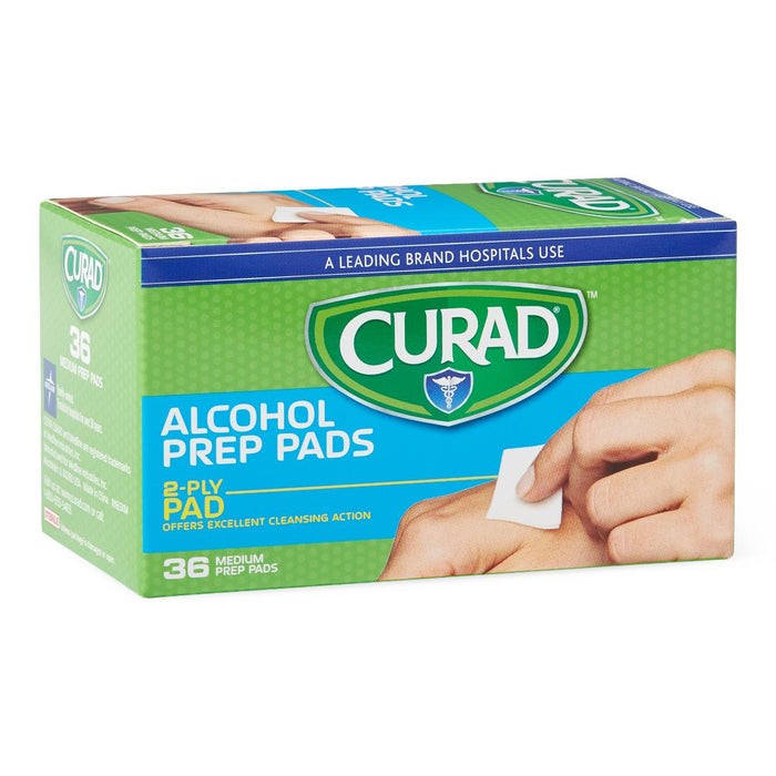 Curad Medium 2-Ply Sterile Alcohol Prep Pads - Case of 900 - Medical Supply Surplus
