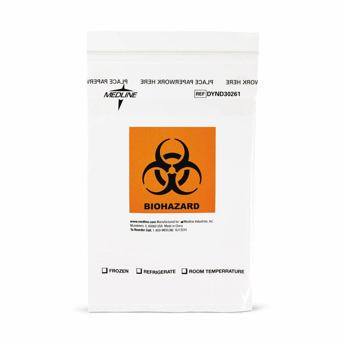 "Zip-Style Biohazard Specimen Bags 6"" x 9"" - Medical Supply Surplus"
