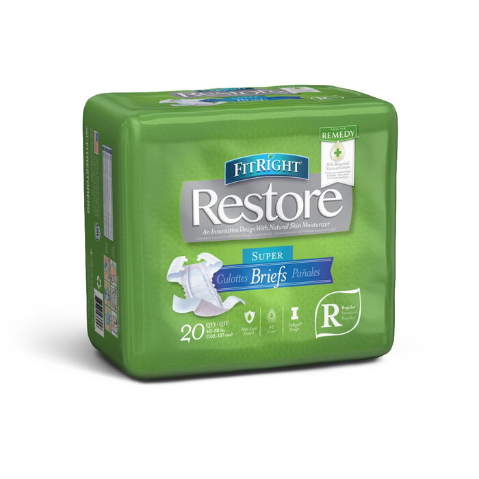 FitRight Restore Super Incontinence Briefs - Case of 80 - Medical Supply Surplus