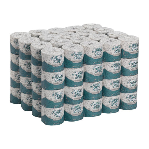 Angel Soft Professional 2-ply Toilet Paper - Case of 80 rolls - Medical Supply Surplus