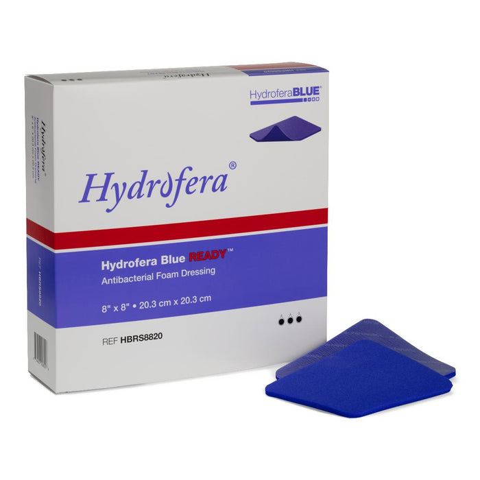 "Hydrofera Blue Ready Antibacterial Foam Dressing 8"" x 8"" - Medical Supply Surplus"